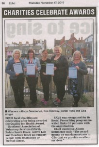 QFH Southend Groups in the news - 17.11.16